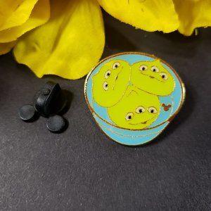 4/$25 Disney HKDL Toy Story Green Aliens Food Pin